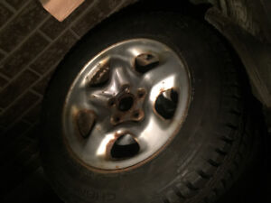 215/65/16 -  Toyota rims and  (brand new) winter tires