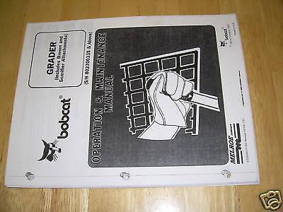 Bobcat Grader Skidsteer Service Manual