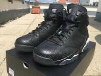 Nike Air Jordan 6 Retro Black Cat White UK Size 7.5