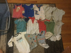Lot of newborn baby boy clothes. Excellent condition.