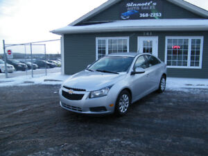 2011 Chevrolet Cruze LT 77,000 km, LOADED AND INSPECTED