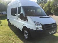 Ford Transit 9 Seat LWB Crew Minibus Splitter Van
