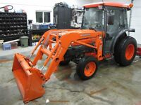 Kubota L-3430 4x4 cab and loader, only 700 hrs, like new
