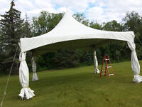 Wedding Tent Bookng for spring 2016 $350.00 , 20' x 20' x 9'