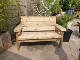 Heavyweight garden bench