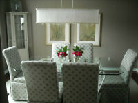 Glass Dining Table $499 or best offer