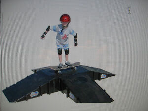 Landwave 4 Sided Pyramid Skateboard ramps (4) and Deck