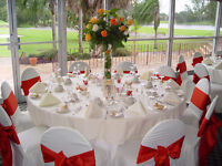 Tablecloth and Chair Cover and Event  Decorations for Rent