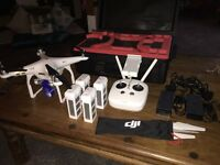 DJI Phantom 3 professional - Like New - with 4 batteries, best quality hard case and loads of extras