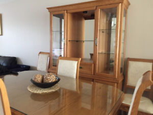 CHEAP DINING SET BUFFET AND HUTCH