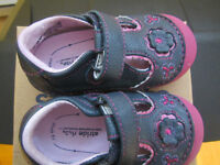 First shoes for girl real leather