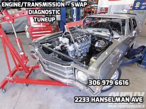 ENGINE - TRANSMISSION INSTALLATION ,DIAGNOSTIC, TUNEUP
