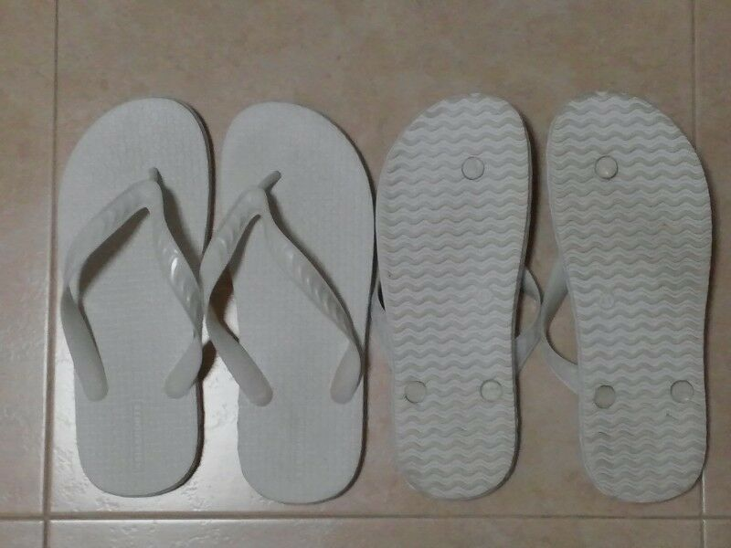 Brand New Size 41 White Rubber Slippers