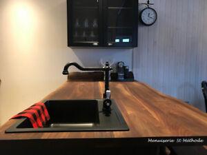 comptoir en bois fabriquer sur mesure