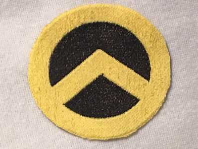 Generation Identity Embroidered Iron On Patch Yellow Black  4 Inch Diameter