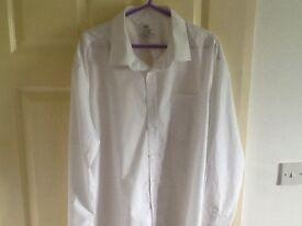 Men's F & F white shirt size 18.5