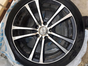 4 rims and tires for sale  215/45/17 91w