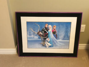 Frozen Prints-framed 34x26
