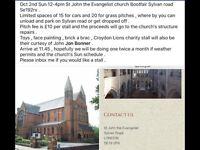 St John the Evangelist car Bootsale Sun Oct 3rd