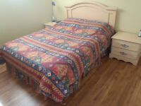 Queen bedroom set with mattress