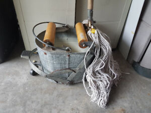 Commercial Mop, Bucket and Extra Mop Heads