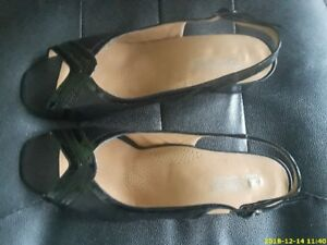 3 Pairs of Genuine Leather Female Sandals & shoes. $35