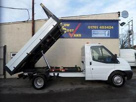 Ford Transit 350 Single Cab 1 Stop Alloy Tipper