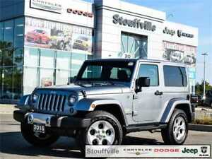2015 Jeep Wrangler Sahara, Dual TOP, Saddle Leather Only 50,000