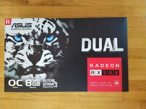ASUS Radeon RX 580 8GB Dual-fan OC Edition GDDR5 DP HDMI DVI VR
