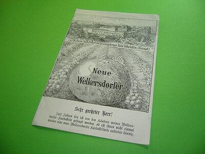 208R04 Alter Prospekt Kartoffelsorte Welkersdorfer Kartoffel Schloß Welkersdorf