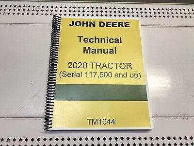 2020 John Deere Technical Service Shop Repair Manual