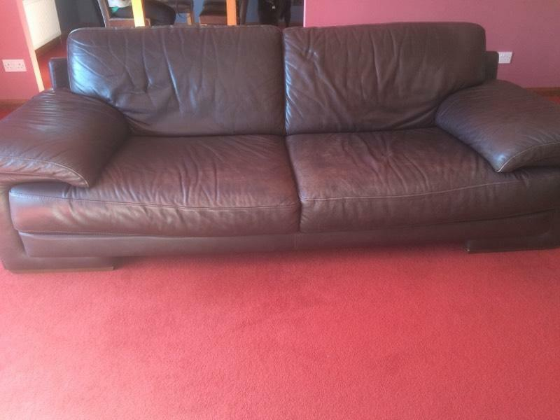 Brown Leather Sofas In East Kilbride Glasgow Gumtree