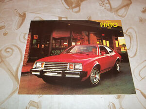 BROCHURE AUTO FORD PINTO ( 1979 )