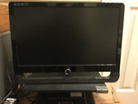 AOC computer monitor and Dell laptop docking stand/base