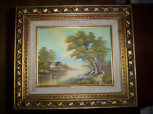 Magnifique tableau Huile sur bois