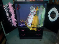 Childs dress up wardrobe armoire