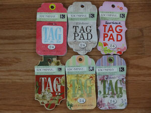 6 K&COMPANY TAG PADS - 24 SHEETS IN EACH