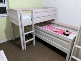 Single bed with mattress can be two heights Thuka Furniture