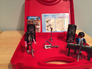 Playmobil rockstar set with carrying case