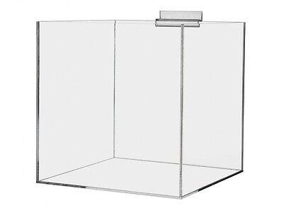 Slatwall Jewelry Cube Riser Display Box 5 Sided 9x9x9