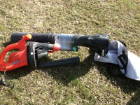 Electric leaf blower and vac