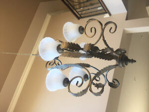 High ceiling chandeliers