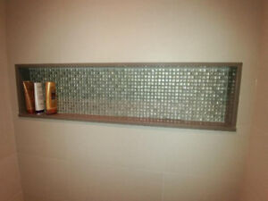 Glass Mosaic Tiles for Shower / Bath Niche