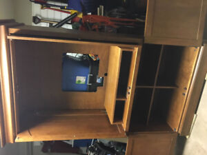 Solid Wood Wall Unit/Entertainment Centre