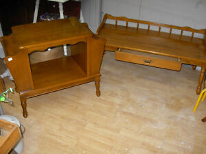 Vintage Knechtel Coffee Table & Magazine Stand Cambridge Kitchener Area image 1