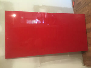 IKEA linnmon red glossy table top no legs.
