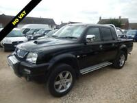 2005 54 MITSUBISHI L200 2.5 ANIMAL DOUBLECAB 4WD PICK UP 4X4 NO VAT DIESEL