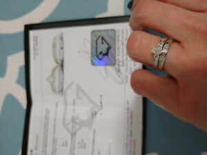 diamond marquis engagement ring with wedding band