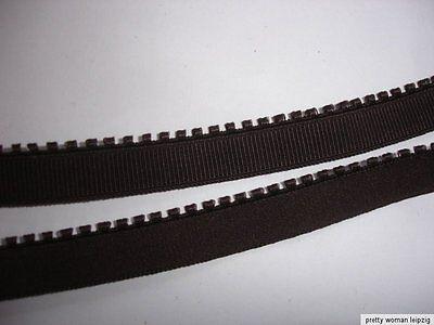 10m elastisches Band 0,25€/m dunkelbraun mit Mäusezähnchen M83