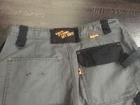 "Scruffs Trade Work Trousers. 34"" waist 31"" leg. Graphite Grey, combat cargo pants"